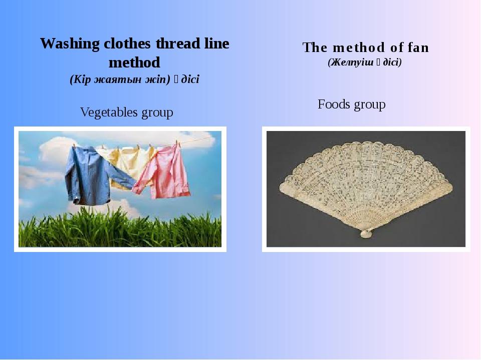 Washing clothes thread line method (Кір жаятын жіп) әдісі The method of fan (...