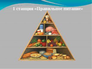 1 станция «Правильное питание»