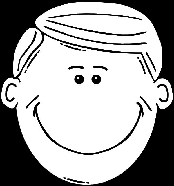 Раскраска голова ребенка