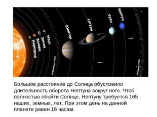 Большое расстояние до Солнца обусловило длительность оборота Нептуна вокруг