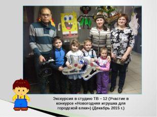 Экскурсия в студию ТВ – 12 (Участие в конкурсе «Новогодняя игрушка для городс