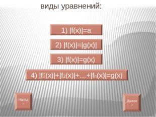 |f(x)|=a f(x)=a f(x)=-a  Назад<