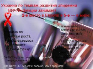 Украина по темпам развития эпидемии ВИЧ-инфекции занимает 2-е место в Европе