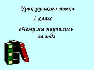Урок русского языка 1 класс «Чему мы научились за год»