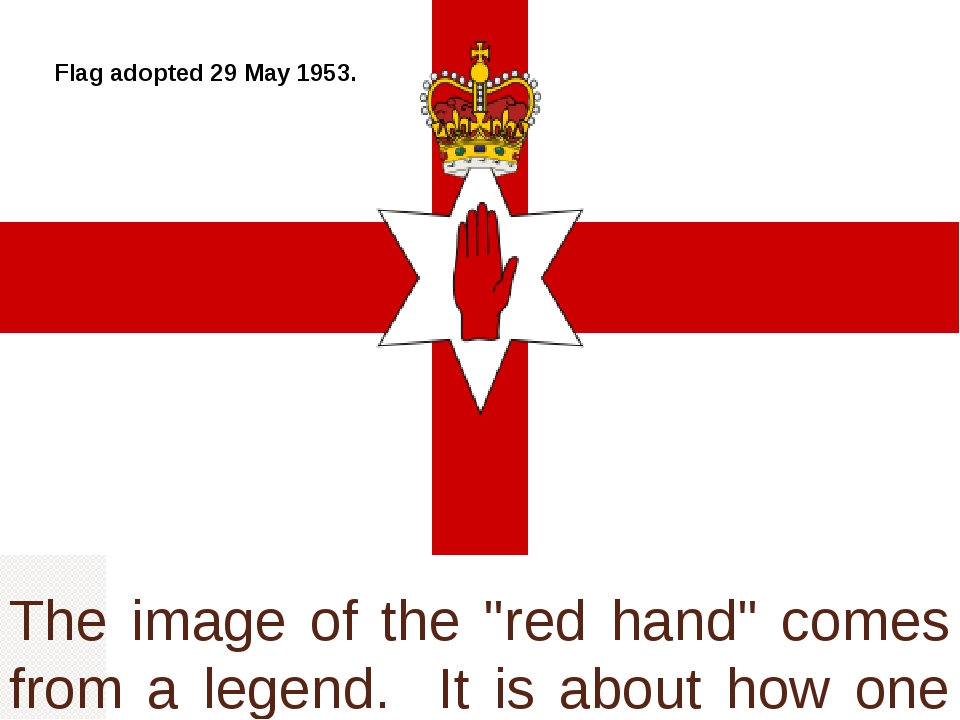 """The image of the """"red hand"""" comes from a legend. It is about how one of aged..."""