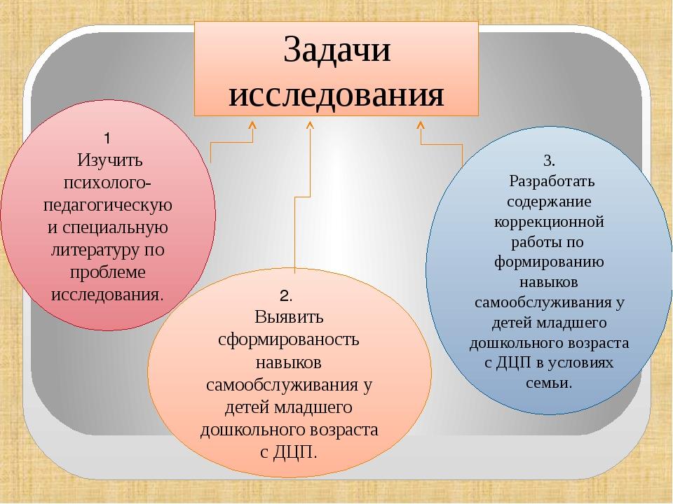 1 Изучить психолого-педагогическую и специальную литературу по проблеме иссл...