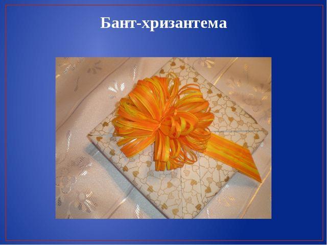 Бант-хризантема