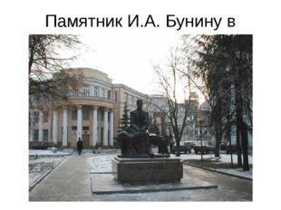 Памятник И.А. Бунину в Воронеже