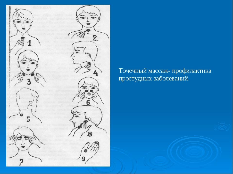 Точечный массаж- профилактика простудных заболеваний.