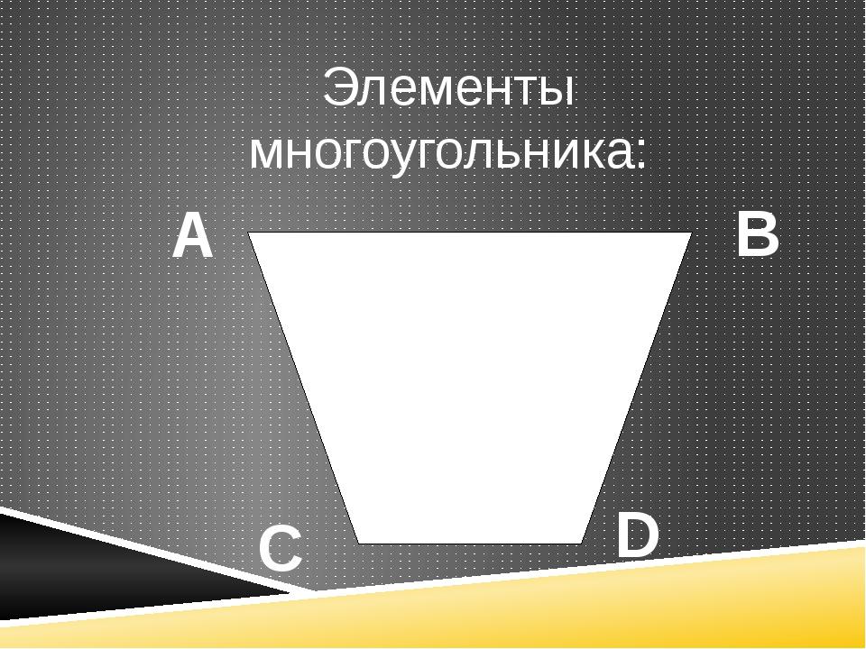 А В С D Элементы многоугольника: