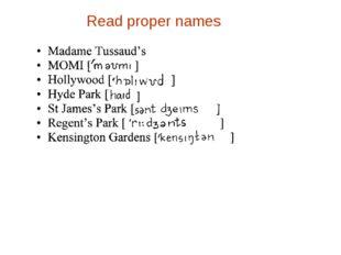 Read proper names ]