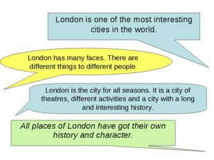 London is one of the most interesting cities in the world. London has many fa