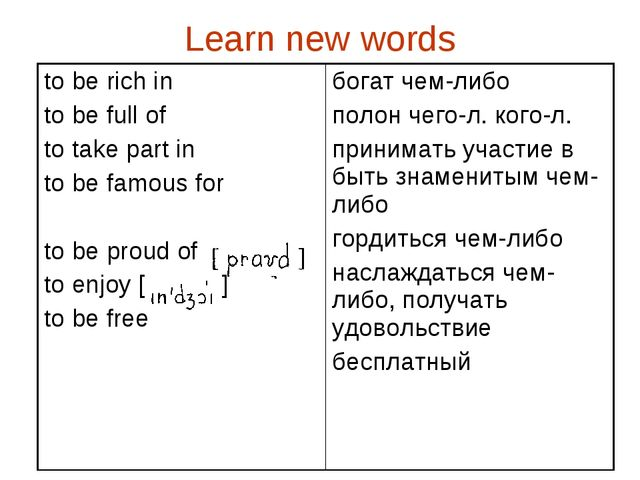 Learn new words