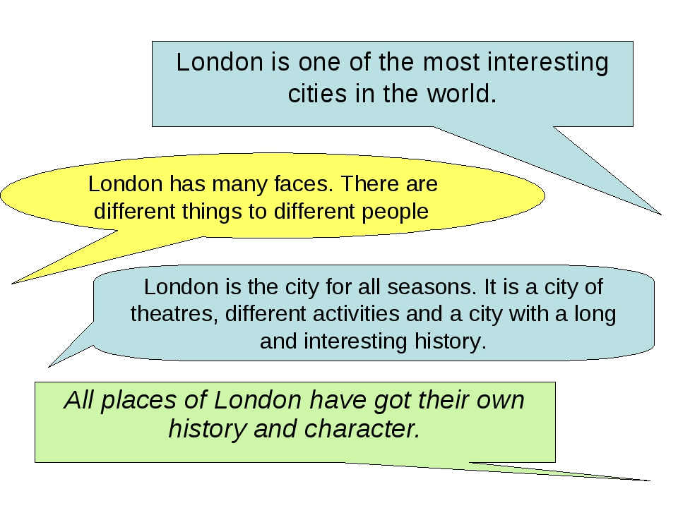 London is one of the most interesting cities in the world. London has many fa...