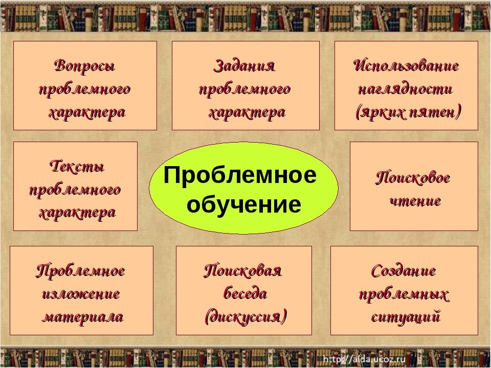 Вопросы проблемного характера Использование наглядности (ярких пятен) Задания...