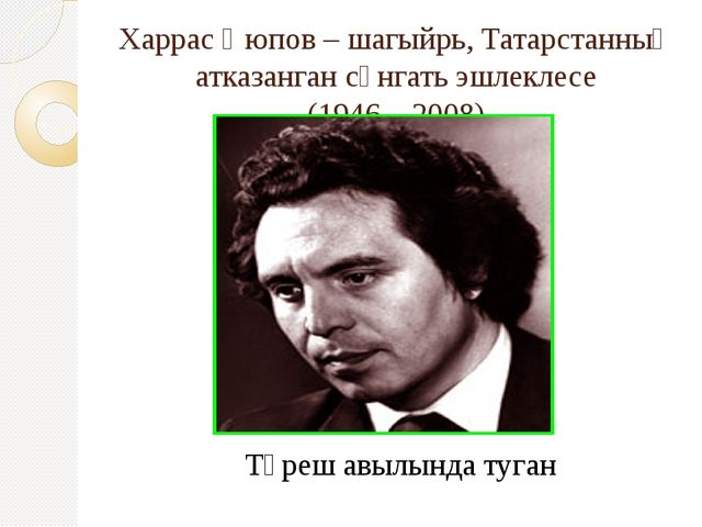 Харрас Әюпов – шагыйрь, Татарстанның атказанган сәнгать эшлеклесе (1946 – 200...