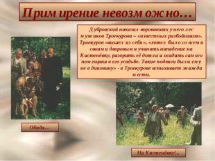 Примирение невозможно… Обида… На Кистенёвку!.. Дубровский наказал воровавших