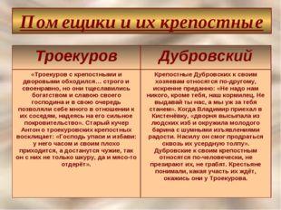 Помещики и их крепостные ТроекуровДубровский «Троекуров с крепостными и двор