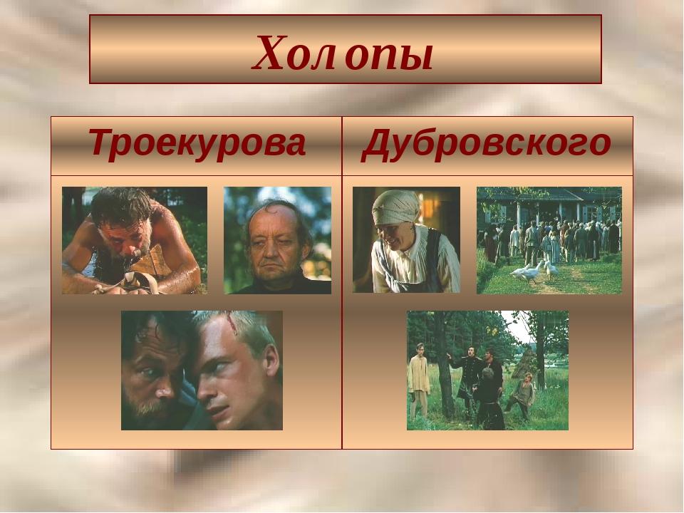 Холопы ТроекуроваДубровского