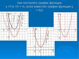 Как построить график функции у =f (x +l) + m, если известен график функции у