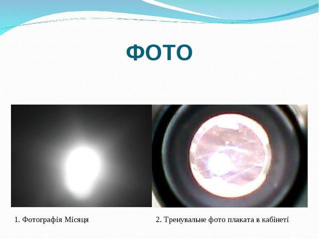 ФОТО 1. Фотографія Місяця 2. Тренувальне фото плаката в кабінеті