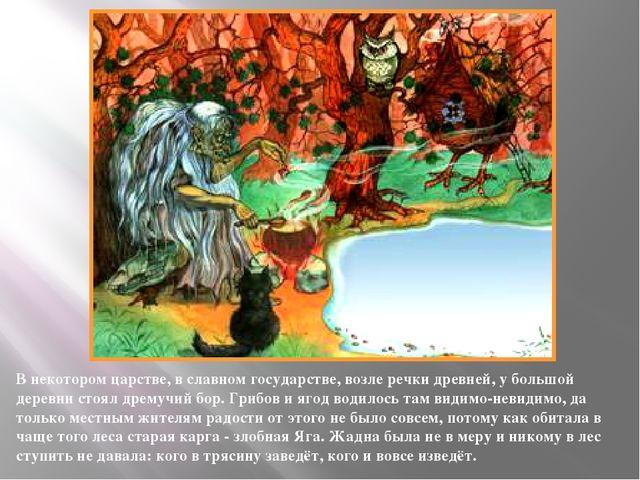 В некотором царстве, в славном государстве, возле речки древней, у большой де...