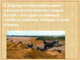 В Барнауле перерабатывают сельскохозяйственное сырьё. Алтай – это один из важ
