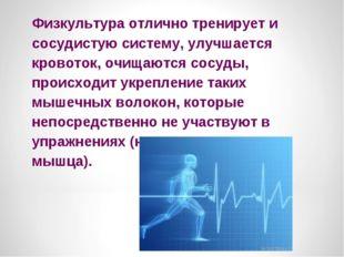 Физкультура отлично тренирует и сосудистую систему, улучшается кровоток, очищ