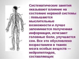 Систематические занятия оказывают влияние на состояние нервной системы : повы