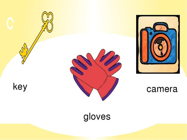 key camera gloves