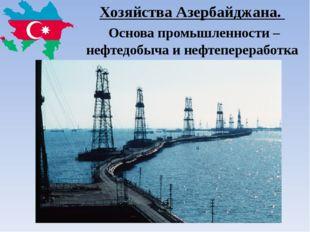 Хозяйства Азербайджана. Основа промышленности – нефтедобыча и нефтепереработка