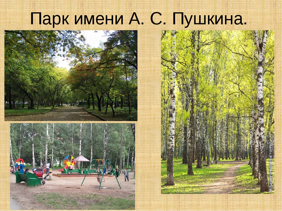 Парк имени А. С. Пушкина.