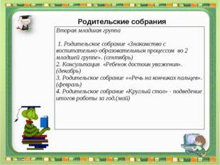 Родительские собрания Методическая планерка Ежемесячно 3.1. Утверждение плана
