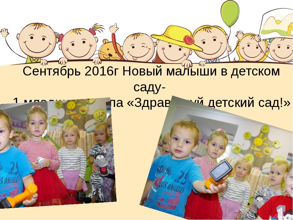 Сентябрь 2016г Новый малыши в детском саду- 1 младшая группа «Здравствуй детс...