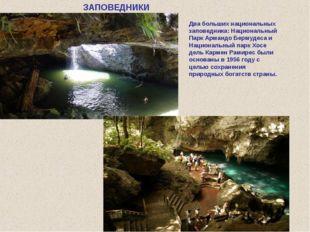 Два больших национальных заповедника: Национальный Парк Армандо Бермудеса и Н