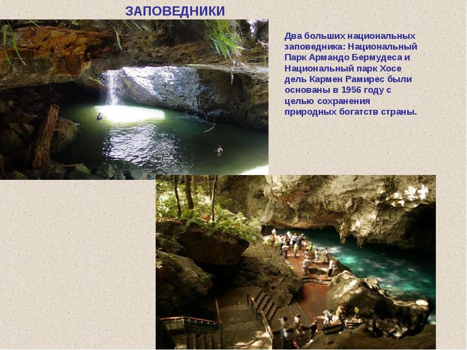 Два больших национальных заповедника: Национальный Парк Армандо Бермудеса и Н...