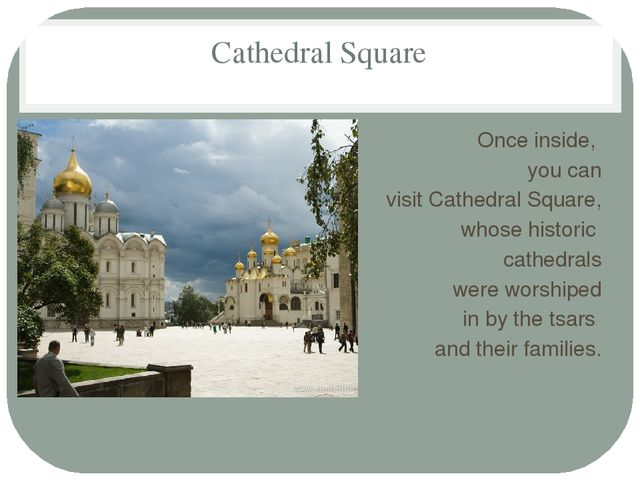 Cathedral Square Once inside, you can visit Cathedral Square, whose historic...