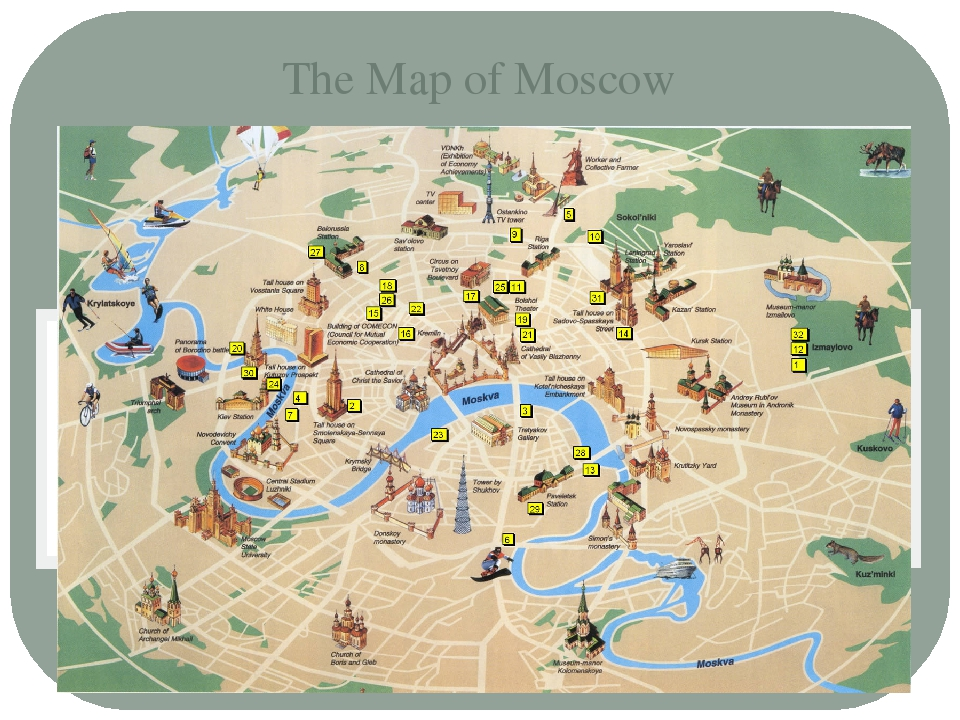 The Map of Moscow