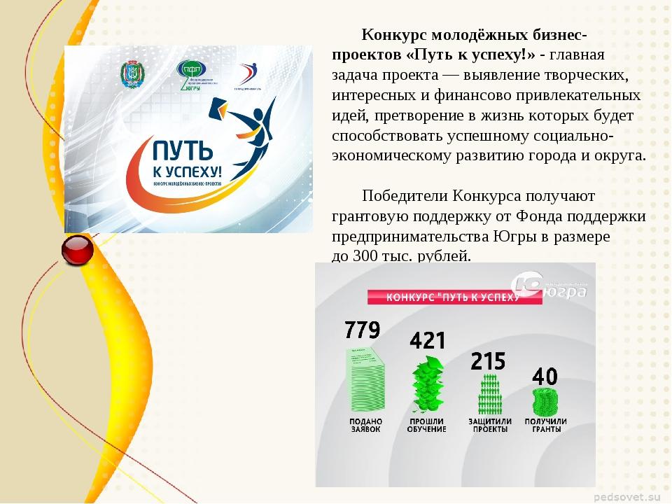 Конкурс молодёжных бизнес-проектов «Путь к успеху!» - главная задача проекта...