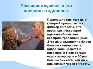 Пассивное курение и его влияние на здоровье. Курильщик вдыхает дым, который п