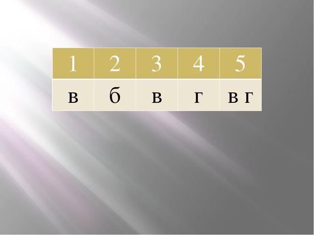 1 2 3 4 5 в б в г в г