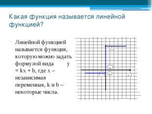 Какая функция называется линейной функцией? Линейной функцией называется функ