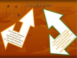 СВОЙСТВА Если две прямые в плоскости перпендикулярны третьей прямой, то они п
