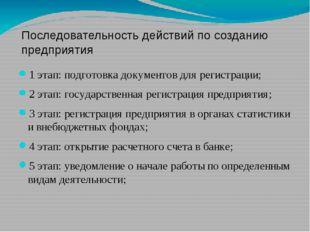 1 этап: подготовка документов для регистрации; 2 этап: государственная регис