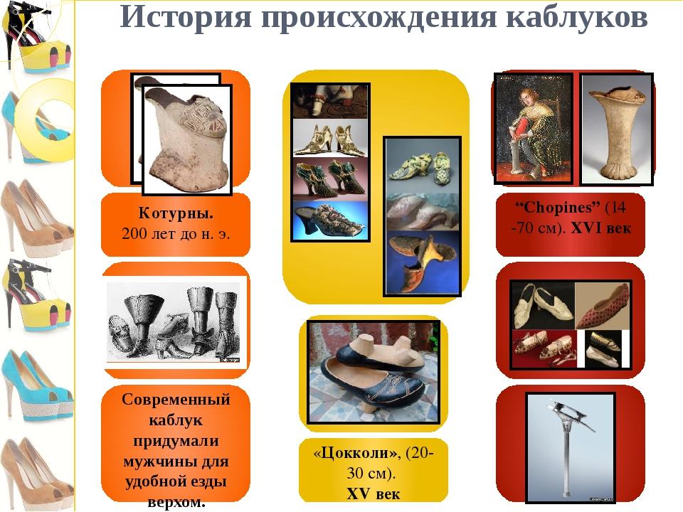 История происхождения каблуков Современный каблук придумали мужчины для удоб...