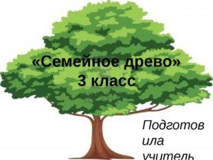 «Семейное древо» 3 класс Подготовила учитель информатики и ИКТ Чумакова Анаст