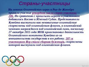 Страны-участницы На летних Олимпийских играх в Рио-де-Жанейро приняло участие