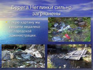 Берега Неглинки сильно загрязнены Такую картину мы увидели недалеко от городс
