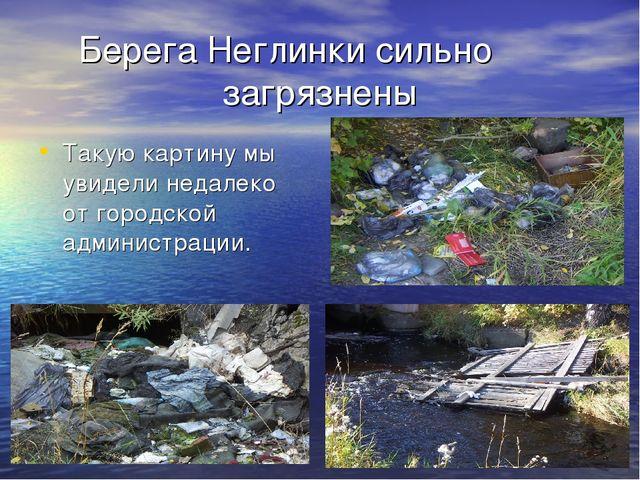 Берега Неглинки сильно загрязнены Такую картину мы увидели недалеко от городс...