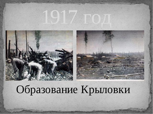 1917 год Образование Крыловки